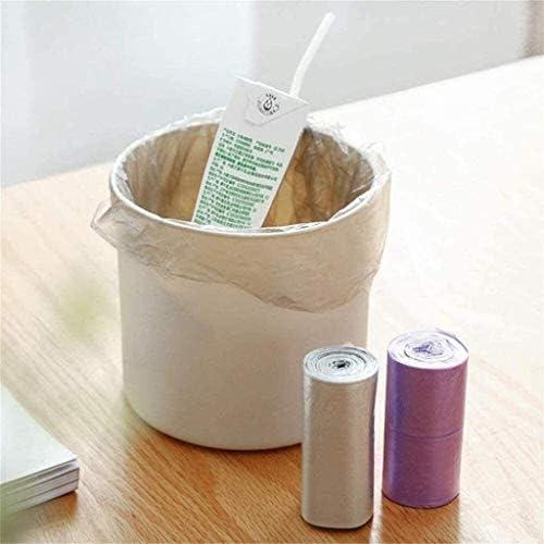 HUILIYUAN 120PCのゴミ袋の4Rolls大耐久使い捨てプラスチック家庭台所ゴミ袋