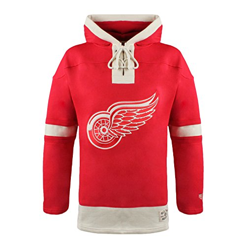Detroit Red Wings Hoodie (NHL Detroit Red Wings Men's Lacer Heavyweight Hoodie, X-Large, Red)