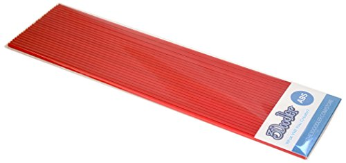 3Doodler Create ABS 3D Printing Filament Refill Pack (X25 Strands of Plastic) - Riding Hood Red