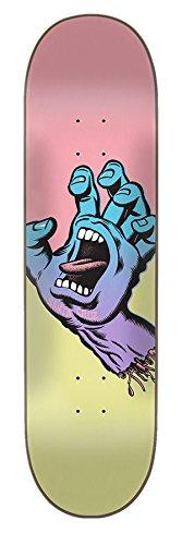 Santa Cruz Skate Pastel Screaming Hand 8.25in x 31.8in Skateboard (Santa Cruz Deck)