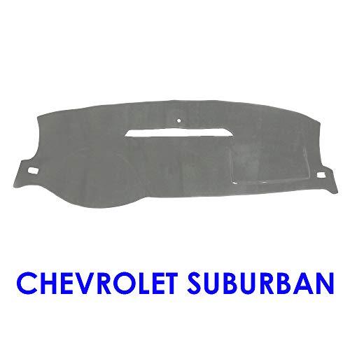 JIAKANUO Auto Car Dashboard Carpet Dash Board Cover Mat Fit Chevy Chevrolet Suburban 2007-2014 (Gray) MR076