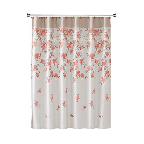 SKL Home by Saturday Knight Ltd.  Coral Garden Floral Fabric Shower Curtain, -