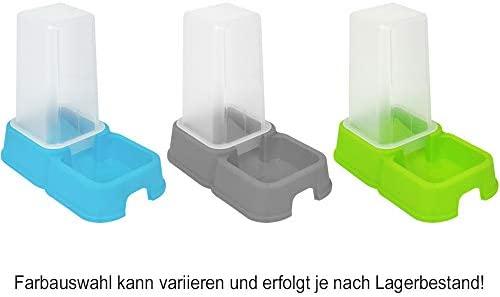 com-four® 2X Dispensador de Comida y Agua para Mascotas de 1.5 litros, comedero automático Perros y Gatos, 26.2 x 24 x 15.4 cm (02 Piezas - ...