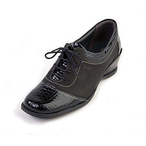 Croc Suave Scarpe donna stringate Black rAX7Ax