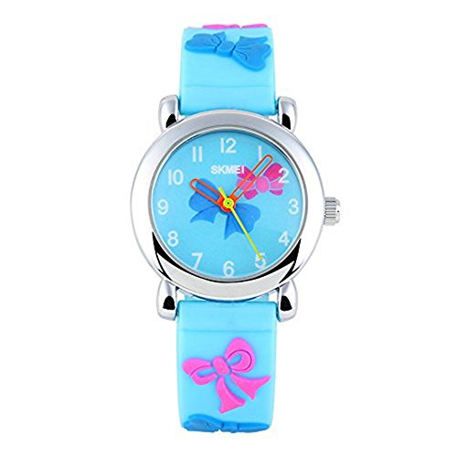 Price comparison product image SKMEI Kids Watches Girls Sports Watches Waterproof Girls Girls Luminous Jelly Electronic Watch(3 styles optional)(Light blue)