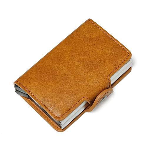 KyStudio Creative Automatic Pop-Up Card Box Fashion Men Women Wallet PU Leather Card Credit Holder
