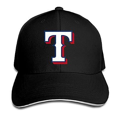 NUBIA Texas Ranger Sandwich Peak Sun Protection Cap Flex Fit Cap Black