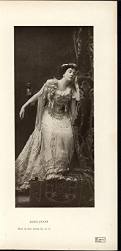 Edna Jean Beautiful Thespian Costume 1906 lovely antique photo print (Edna Costume)