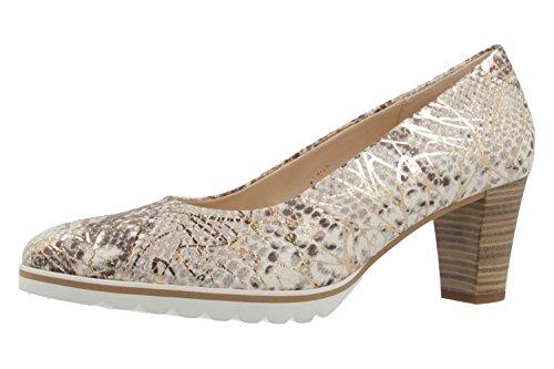 Pumps Gabor Grau Damen Schuhe Comfort in Gold Übergrößen p7wF7Rxq