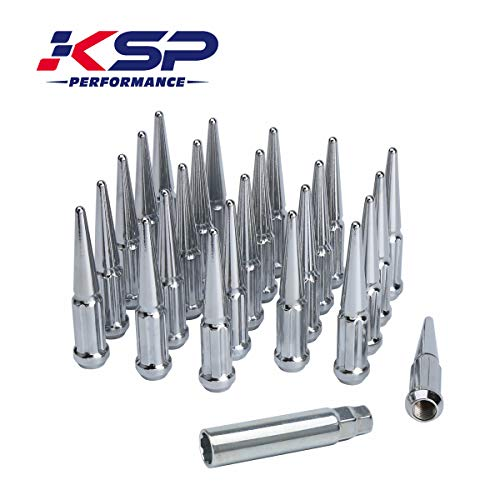 KSP 24 Pc 6 Spline Spike Lug Nuts M14x1.5 Thread 4.4