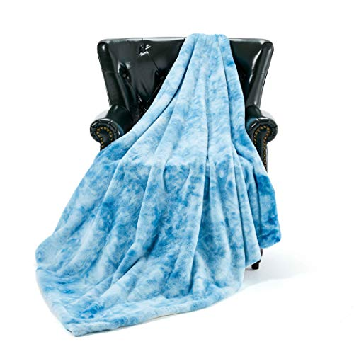 Homey Forte Lightweight Winter Throw Blanket Comforter in Animal Faux Fur Style Made of Fluffy Plush for Living Room Decor Bedroom Blanket Couch Sofa Cover (50 x 60)