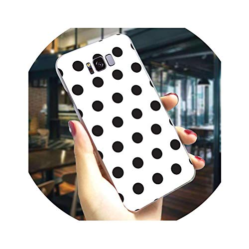 Hard Phone Case for Galaxy S8 Plus Polka Dots Cover for Samsung S6 Cases M10 M20 M30 S7 Edge S9 Plus S10e Note 8 9,K0586310,for Galaxy S7 - Dots Upholstery