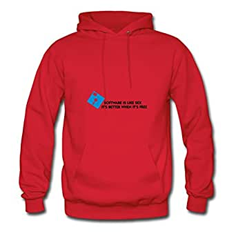 Red Elegent Software Like Sex (2c) Women Funny Hoody X-large
