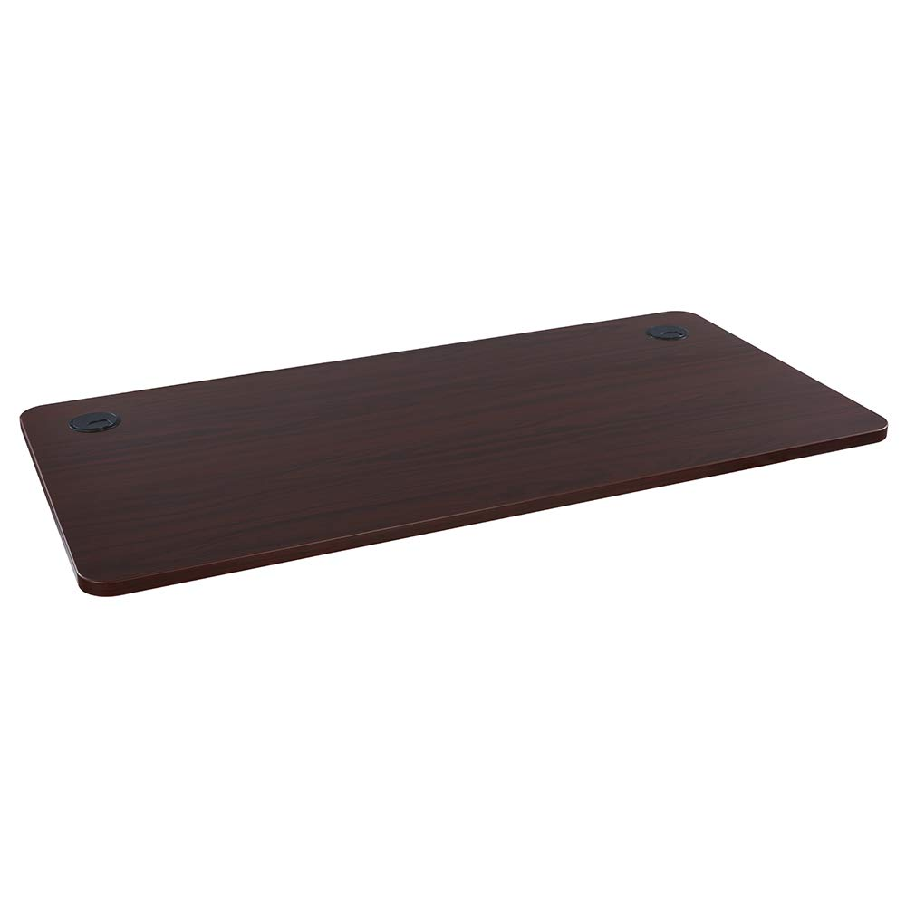Sunon Rectangle Laminate Table Top Universal Wood Table Top for Home Office Desk/Sit Stand Desk/Computer Desk/Gaming Desk (55 x27.5 inch, Mahogany) by Sunon