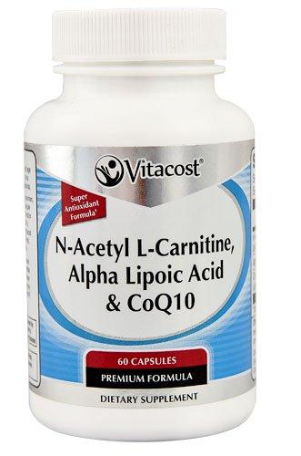 Vitacost N-Acetyl L-Carnitine, Alpha Lipoic Acid & CoQ10 -- 60 Capsules - 3PC by Vitacost Brand