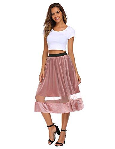 Velvet Patchwork Skirt - 1
