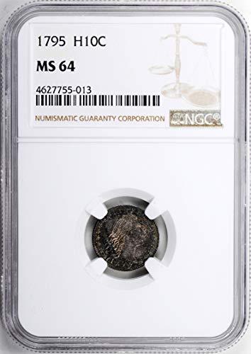 1795 Flowing Hair Half Dime MS-64 NGC Dime MS-64 NGC