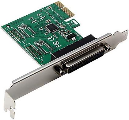 Docooler Erweiterungskarte PCI-E zum LPT Parallel Port Konverter für Steuerdrucker