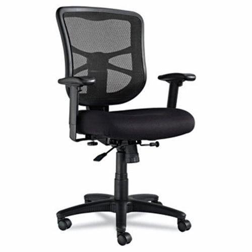 - Alera Elusion Series Mesh Mid-Back Swivel/Tilt Chair, Black