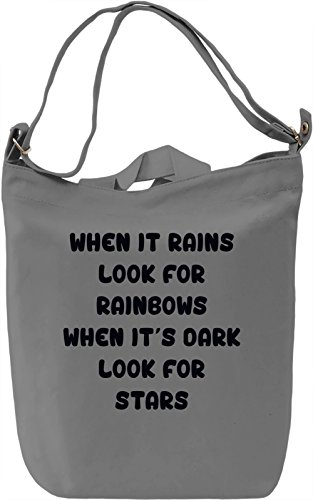 Stars and Rainbows Borsa Giornaliera Canvas Canvas Day Bag| 100% Premium Cotton Canvas| DTG Printing|