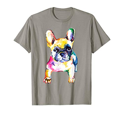 French Bulldog Original Watercolor illustration t-shirt
