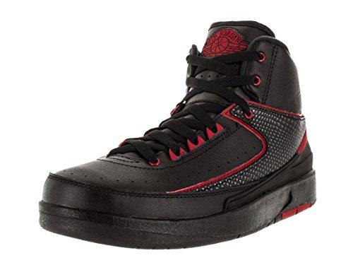 Nike Air Jordan 2 Retro Bg, Zapatillas de Deporte para Niños Negro / Rojo (Black / Varsity Red)