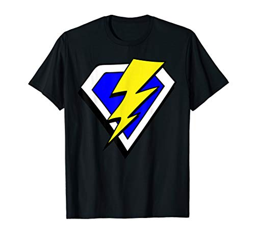 - Superhero Lightning Bolt Hero T Shirt
