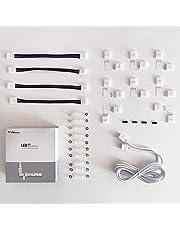 LED-strip connector, LED-strip verlenging, LED-strip hoekverbinding, LED-strip bevestigingsclips, voor 10 mm 4-polig RGB 5050 LED Strip