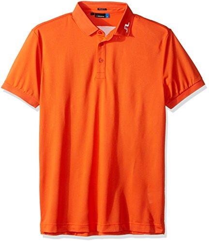 (J.Lindeberg Men's Kv Reg Tx Pique Polo, Racing Orange, S)