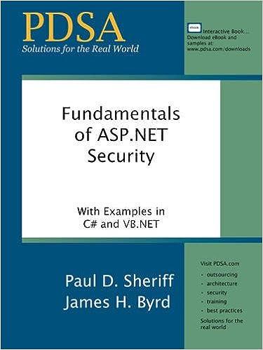 Book Fundamentals of ASP.Net Security