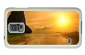 Hipster Samsung S5 brand new cases sunset beach krabi thailand PC White for Samsung S5