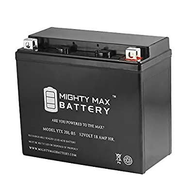 Mighty Max Battery YTX20L-BS Battery Replacement for Can-Am Defender Maverick 1000 11-18 Brand Product