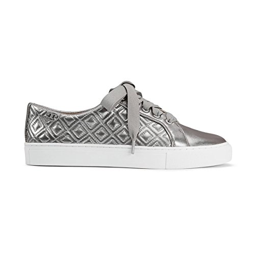 6b70df353a5eb Tory Burch Marion Quilted Metallic Lace-Up Sneaker