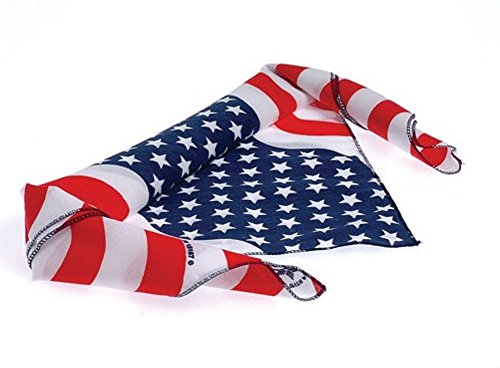 Red, White, & Blue Bandana Head Wrap Stars & Stripes Print