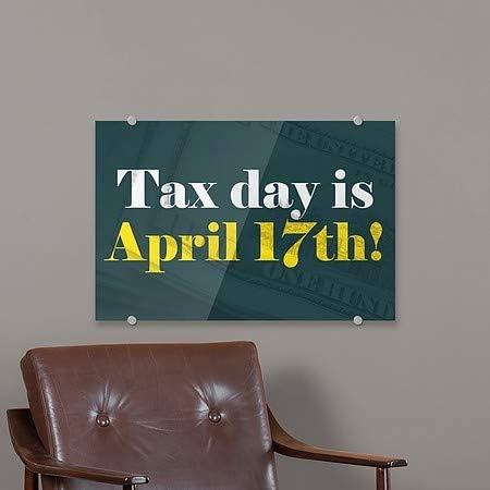 27x18 Inner CircleMoney CGSignLab Tax Day Premium Acrylic Sign