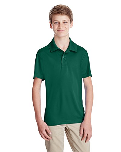 (Team 365 Youth Zone Performance Polo (TT51Y), Sport Forest, Large)