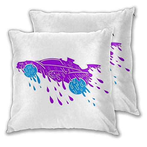 Padida Pack of 2 Adult Pillow Cases, Rocket League Square Throw Polyester Fiber Pillow Case Decorative Cushion Pillow Cover 20