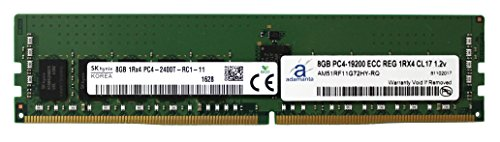 Hynix Original 8GB (1x8GB) Server Memory Upgrade for Dell Poweredge, HP Apollo & HP Proliant Gen9 Servers DDR4 2400MHZ PC4-19200 ECC Registered Chip 1Rx4 CL17 1.2v DRAM RAM Adamanta