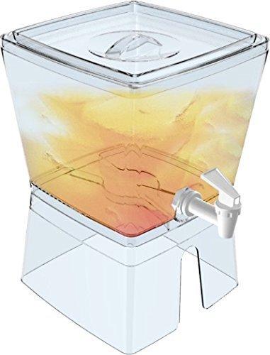 Palacio vajilla elegante cuadrado zumo y dispensador de agua con soporte – sin BPA