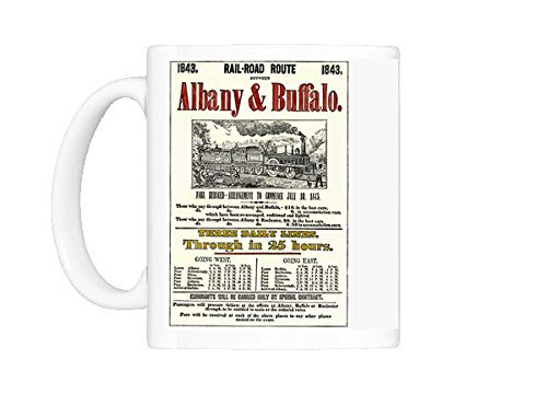 Mug of Albany a Buffalo Railroad schedule, 1843 (5886035)