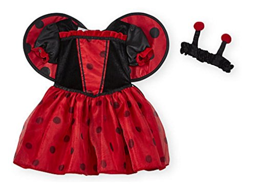 Ladybug Costume Babies R Us (Koala Kids Girls 2 Piece Red/Black Ladybug Costume with Headband- 12/18 Months)