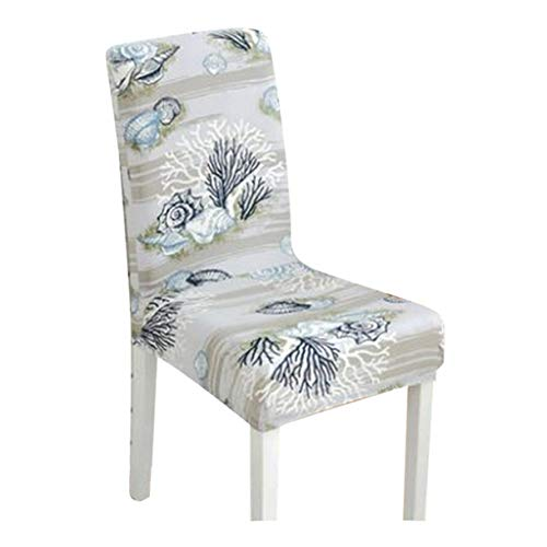 TANGOGO Soft Chair Covers Stretch Spandex Seat Covers Pattern Chair Covers Kitchen Chair Short Dining Chair Cover