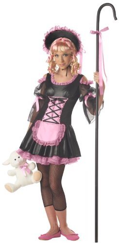 California Costume Girl's Black/Pink Little Bo Peep,Large (Black Sheep Halloween Costume)