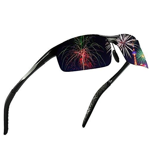 KITHDIA Driving Polarized Sunglasses For Men UV Protection Lightweight Al-Mg Golf Fishing Metal Sunglasses