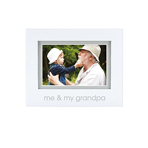 Pearhead Me and My Grandpa Keepsake Photo Frame, Grandpa Gifts, Great First Fathers Day Gift, White