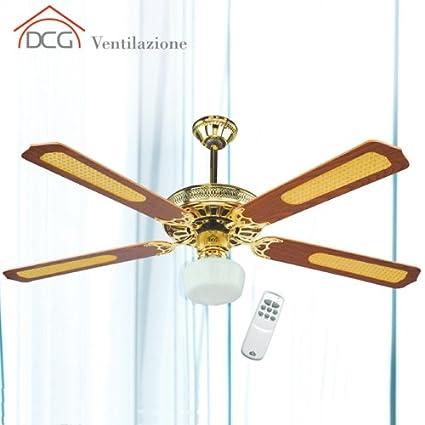 Lampadario A Pale Con Telecomando.Ventilatore Da Soffitto 4 Pale Con Telecomando Dcg Eltronic