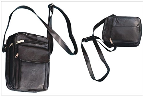 Messenger Brand Ladies Gents Leather Black Cross Bag Body Real New Shoulder Fg4Fqw0Z