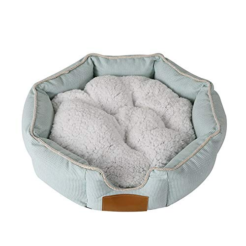 Gouwo Octagon Pet Bed Cat Dog Mat Puppy Cushion Oxford Cloth with Removable Cushion Winter - Selectable Size (Size : 6014cm)