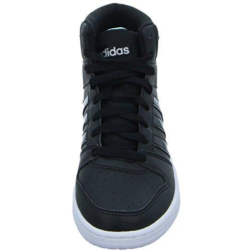 adidas Vs Hoopster Mid W, Baskets Pour Femme - Noir - Schwarz (Schwarz),