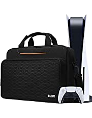 Console Carrying Case Compatible for PS5, Travel Case Storage Bag Compatible for PS5 Controller, Monitor,Headset,Game discs,Charger & Accessories